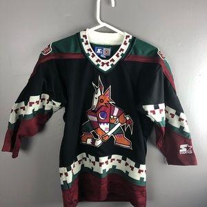 Vintage Blank Arizona Coyotes NHL Starter Jersey